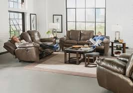 Power Reclining Sofa Set Catnapper Top Grain Italian Leather Lay Flat Power Reclining