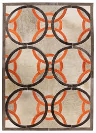 Leather Area Rug Ribbon Modern Leather Rug Ribbon Taupepeach