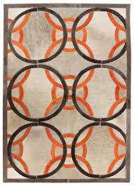 Modern Orange Rugs Ribbon Modern Leather Rug Ribbon Taupepeach
