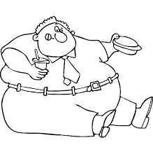 Fat Boy Eating His Lunch Box Coloring Pages Netart Box Coloring Pages
