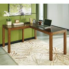 Small L Shaped Desk Home Office Signature Design By Lobink L Desk Walmart