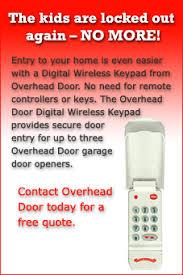 Overhead Door Wireless Keypad Schrader Architectural Products Overhead Door Company Of