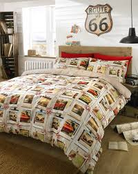Cars Duvet Cover Contemporary Vintage Car U0026 Campervan Duvet Cover Quilt Cover