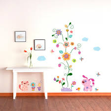 rose flower wall stickers removable decal home decor diy art wall flower stickers