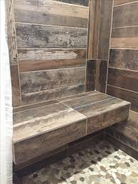 Ceramic Tile Bathroom Designs Ideas by Best 25 Wood Tile Shower Ideas On Pinterest Rustic Shower
