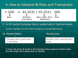 bid rate foreign exchange forex ppt