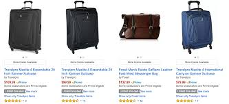 Amazon Travel Items by Big Luggage Sale For Amazon Prime Members Running With Miles