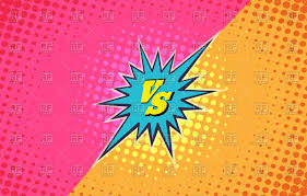 battle vs versus duel icon battle vs on colourful background royalty free