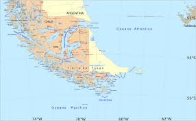 Map Of South And Central America Strait Of Magellan Wikipedia