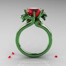 green rings images Art masters 14k green gold 3 0 ct rubies military dragon jpg