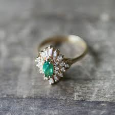 vintage emerald engagement rings best antique emerald diamond ring products on wanelo