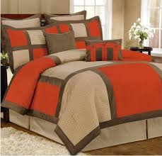 Orange Bed Set Chocolate And Burnt Orange Comforter Set A Versitle Style That Can