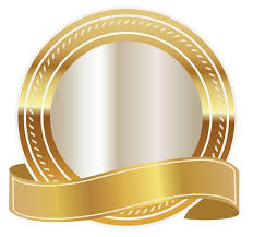 gold ribbons gold seal with gold ribbon png clipart image frames