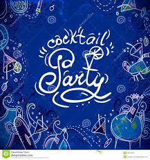 cocktail party invitation design for cocktail party invitation with cocktails stock vector