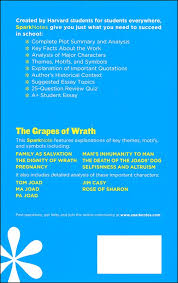 The Grapes Of Wrath Sparknotes Grapes Of Wrath Sparknotes Literature Guide 057444 Details