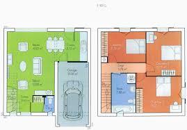 plan maison 100m2 3 chambres plan maison 100m2 a etage unique plan de maison plain pied 3