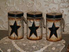 primitive kitchen canister sets primitive farmhouse set 3 country living tin canister