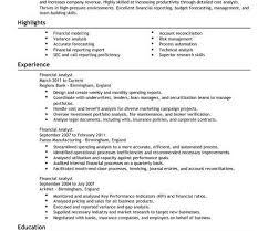 11 best best financial analyst resume templates u0026 samples