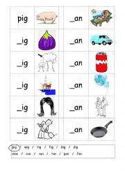 english worksheets phonics 3 letter words cvc writing ig an