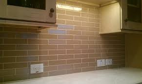 Brown Subway Tile Backsplash by Kitchen Back Splash Subway 2