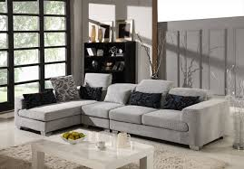 Gray Microfiber Sectional Sofa Inspiring Gray Microfiber Sectional Sofa With Grey Microfiber