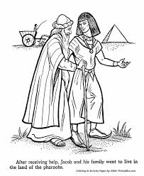 jacob joseph egypt testament coloring pages