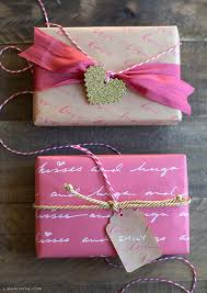 pink gift wrap diy personalized letter gift wrap