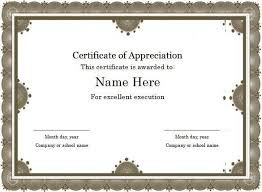 free award certificate templates word certificates officecom