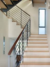 Contemporary Banisters And Handrails Glass And Metal Railing Houzz