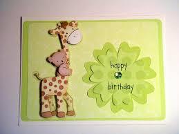 giraffe and koala baby 1st birthday card by bethiescards on zibbet