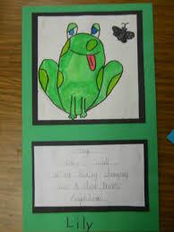 mrs t u0027s first grade class frog cinquain poems