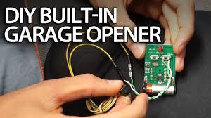 garage door lifter diy built in garage door opener in your car youtube
