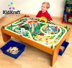 kidkraft train table compatible with thomas kidkraft metropolis train table set rapid waterfall train set and