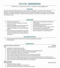 Electrical Supervisor Resume Sample Industrial Maintenance Resume Samples Industrial Maintenance
