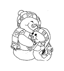 cute snowman coloring pages funycoloring