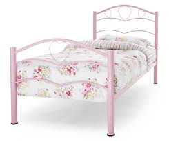 Metal Bed Frames Single by Tanzania Pink Heart Metal Bed Frame Sensation Sleep Beds And