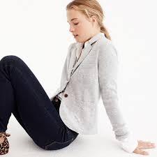 blazer sweater j crew womens cropped sweater blazer size xxxs blazers