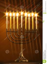 menorah candle all candle lite on the traditional hanukkah menorah with