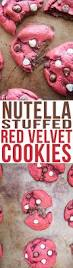 nutella stuffed red velvet cookies recipe nutella stuffed