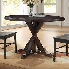 carolina cottage dining table shop carolina cottage monet espresso wood round dining table at