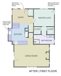 first floor master bedroom addition plans