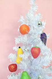these diy glitter fruit ornaments are almost enough to eat