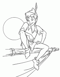 tinkerbell peter pan coloring pages print coloring