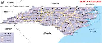 map of carolina state map of usa