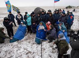 soyuz lands in kazakhstan with station crew u2013 spaceflight now