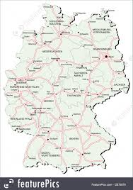 Map Germany by Signs And Info Germany Autobahn Map Stock Illustration I2878879