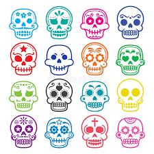 sugar skull dia de los muertos icons