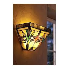 Battery Wall Sconce Lighting Sconce For Either Side Of Mantel Stained Glass Wireless Wall