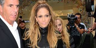 j lo ponytail hairstyles jennifer lopez steps out in a leather lbd huffpost