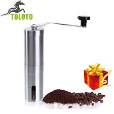 Manual Coffee Grinders Cheapest Vakind Manual Coffee Grinder Conical Burr Mill Silver